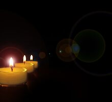 tea-light glow by franceslewis
