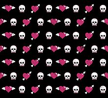 Hearts and Skulls by PatternInk