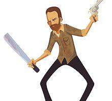 Rick Grimes Fan Art by AnatoleChupin09