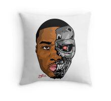 HALF MAN HALF MACHINE  Throw Pillow