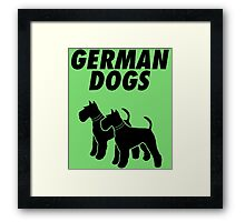 German Dogs Framed Print