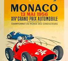 Vintage Monaco Poster - 1956 by OldDawg
