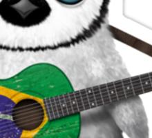 Baby Penguin Playing Brazilian Flag Guitar Sticker