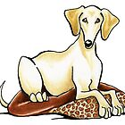 Smooth Saluki Lester by offleashart