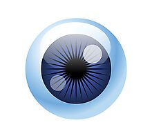 Crazy Blue Eyeball Photographic Print