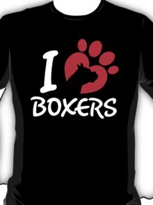 I Love Boxers T-Shirt
