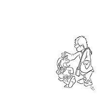Merlin & Arthur B&W by Rory Donald
