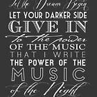 Music of the Night typography by themoderngeek