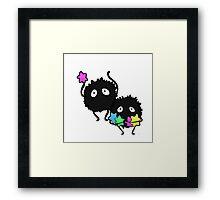 soot sprites! Framed Print