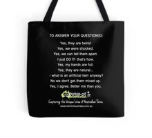 To Answer Your Questions Tote Bag