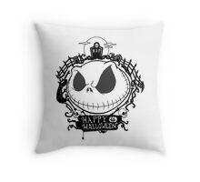 Happy Halloween Nightmare Style Throw Pillow