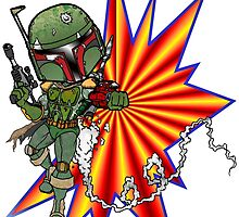 Boba Fett Ready to Fire by Skree