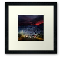 Lava is coming. Framed Print