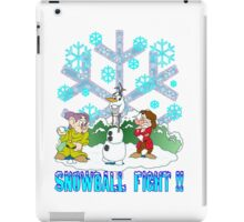 Snowball Fight Disney style iPad Case/Skin