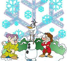 Snowball Fight Disney style by Skree