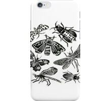 Insect Collection Lino Prints iPhone Case/Skin