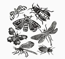 Insect Collection Lino Prints Kids Clothes
