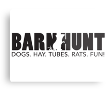 Dogs. Hay. Tubes. Rats. Fun! Metal Print