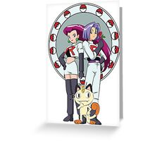 Team Rocket Nouveau Greeting Card