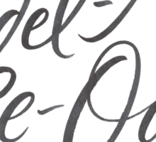 """Happy Yodelling Calligraphy  """"Yodel-Ay-Ee-Oooo""""  Brush Lettering Sticker"""
