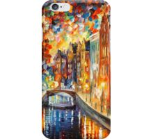 AMSTERDAM - NIGHT CANAL - Leonid Afremov iPhone Case/Skin