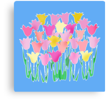 Pink and Yellow Tulips Canvas Print