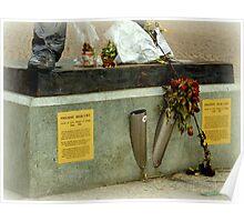 Foot of Freddie Mercury Poster