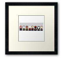 Star Trek TNG Police Lineup Framed Print