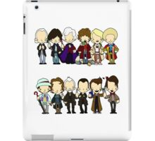 The Doctors 1-11 (plus war doc) Doctor Who iPad Case/Skin