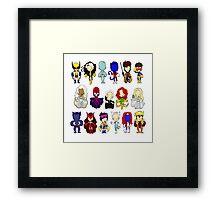 X MEN GROUP  Framed Print