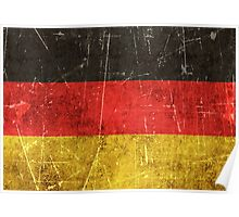 Vintage Aged and Scratched German Flag Poster