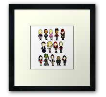 Doctors Companions and Friends V.2 Framed Print