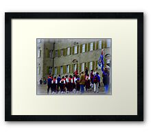 Einsieldeln Gathering Framed Print