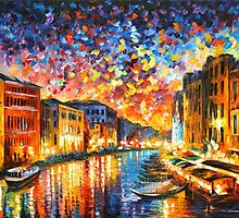 VENICE - GRAND CANAL - Leonid Afremov by Leonid Afremov