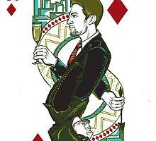 Green Arrow/Oliver Queen, King of Diamonds by FlyingFoxWhale