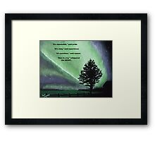 The Sentinel of the heart. Framed Print