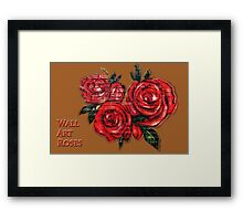 Graffiti Tees-4- ROSES! Framed Print