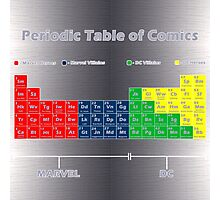 Periodic Table of Comics Photographic Print