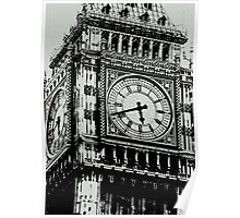 Big Ben Face - Palace of Westminster, London  Poster