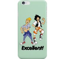Bill and Ted - Group 05 - Excellent - Air Guitars - Black Font iPhone Case/Skin