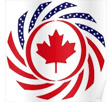Canadian American Multinational Patriot Flag Series Poster