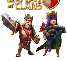 Clash of Clans King barbarian and Queen Archer by Jungyoomi