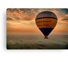 Egypt. Sunrise on the Balloon. Canvas Print