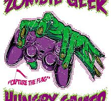 Zombie Geek Hungry Gamer by renowneduk