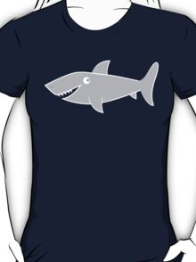 GREY Shark teeth hungry T-Shirt