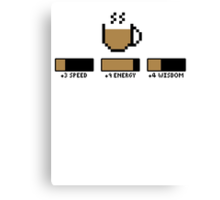 Coffee stats Canvas Print