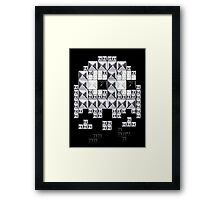 studded and tetrified Framed Print