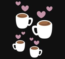 Coffee cups group with love hearts cute! Kids Clothes
