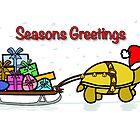 A Tortoise Christmas - Seasons Greetings (Gift Design) by Iceyuk