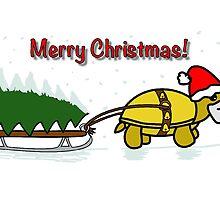 A Tortoise Christmas - Merry Christmas (Tree Design) by Iceyuk